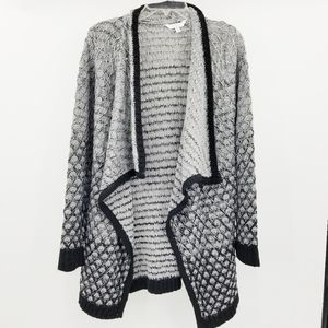 Time & Tru Gradient Open Front Crochet Cardigan M